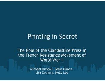 Printing in Secret - Courses