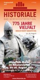 775 JAHRE VIELFALT - Historiale