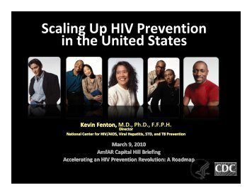 Scaling Up HIV Prevention in the United States - amfAR