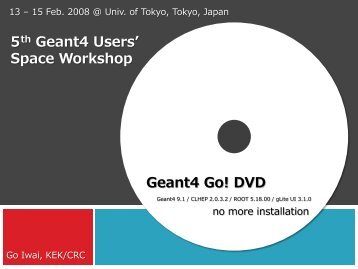 5th Geant4 Users' Space Workshop