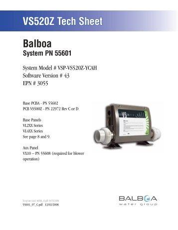 55601, VSP-VS520Z-YCAH - Balboa Direct
