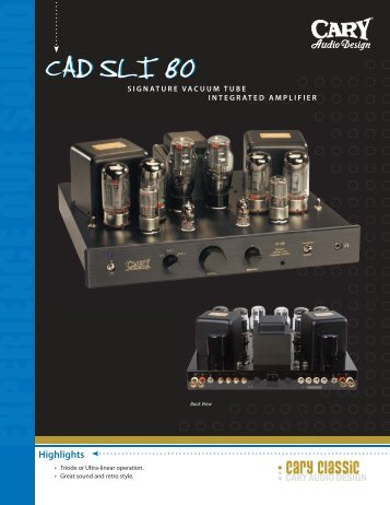 cary classic - Cary Audio Design