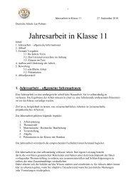 Jahresarbeit in Klasse 11 - Deutsche Schule Las Palmas de Gran ...