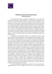Scheda di sintesi del Vademecum - Europroject