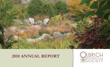 2010 ANNUAL REPORT - Olbrich Botanical Gardens