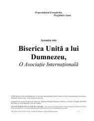 Biserica Unită a lui Dumnezeu, - United Church of God