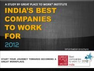 INDIA'S BEST COMPANIES TO WORK FOR 2012 - Great Place to ...