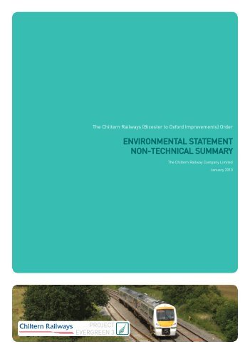 Non-Technical Summary - Chiltern Evergreen3