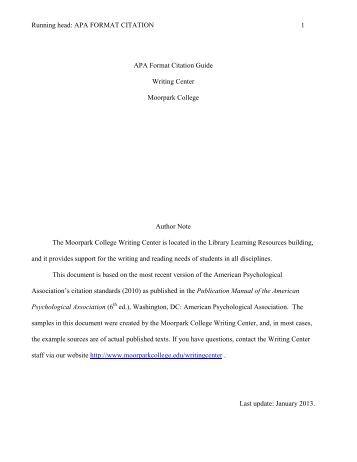 apa 6th edition citation guide