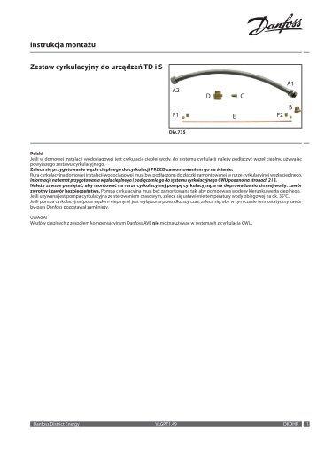 Instrukcja montażu Zestaw cyrkulacyjny do urządzeń TD i S - Danfoss
