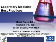 Laboratory Medicine Best Practices - Centers for Disease Control ...