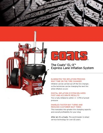 the coats® El-X™ Express lane inflation system - NY Tech Supply