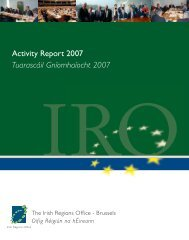 IRO Activity Report 2007 - Irish Regions Office