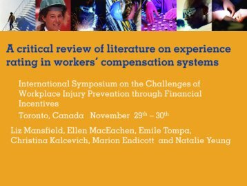 Download presentation - Institute for Work & Health