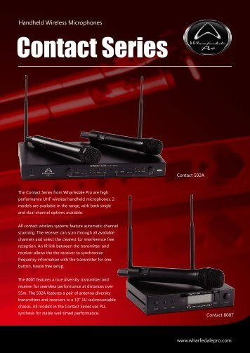 Contact Series Brochure - Wharfedale Pro
