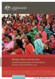 AusAID Women, Peace and Security