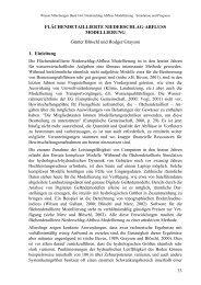 FLÄCHENDETAILLIERTE NIEDERSCHLAG-ABFLUSS ...