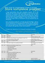Store komplekse prosjekt - Norsk senter for prosjektledelse - NTNU