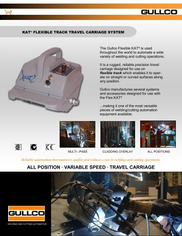 ALL POSITION · VARIABLE SPEED · TRAVEL CARRIAGE - Gullco