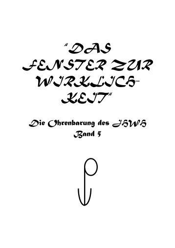 """""""DAS FENSTER ZUR WIRKLICH- KEIT"""" - Key of Life"""