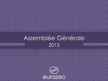 Présentation Assemblée Générale - Eurazeo