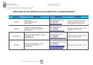 directorio de los centros locales de empleo de la región de murcia
