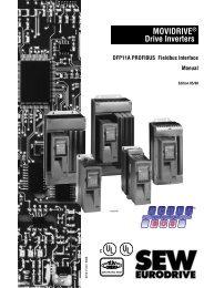 Manual DFP11A PROFIBUS Fieldbus Interface for MOVIDRIVE ...