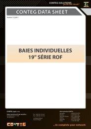 CONTEG DATA SHEET BAIES INDIVIDUELLES 19