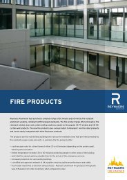 Reynaers Aluminium Fire Products Windows Curtain Walls ...