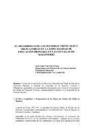 el desarrollo de las materias troncales y obligatorias en la ...