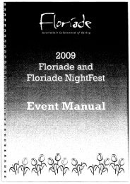 Floriade event manual - Grapevine