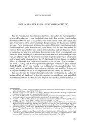 Adel im Pfälzer rAum - Historischer Verein der Pfalz