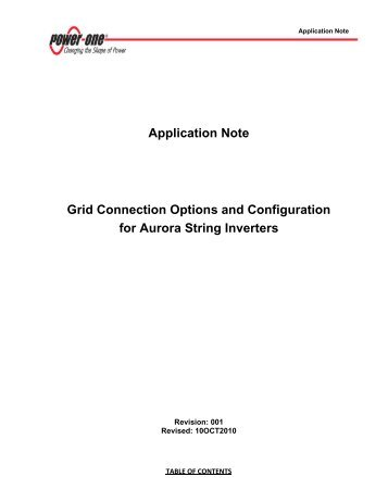 Grid Connections for Aurora Inverters - Matrix Energy