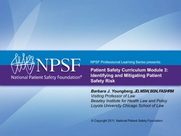 Patient Safety Curriculum Module 3: Identifying and Mitigating ...