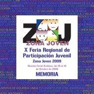 Memoria Zona Joven 2009 - Comunidad Autónoma de la Región de ...