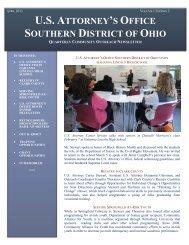 US Attorney's Newsletter - Reynoldsburg City Schools