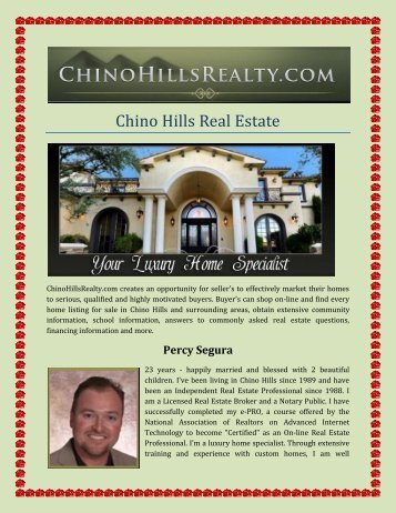 Chino Hills Real Estate