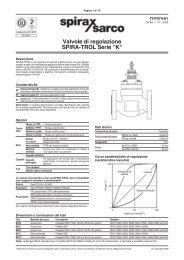 Valvole di regolazione SPIRA-TROL Serie