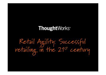Download the presentation here - ThoughtWorks