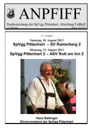 SpVgg Pittenhart – SV Ramerberg 2 SpVgg Pittenhart 2 – ASV Rott ...