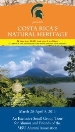 costa rica's natural heritage - MSU Alumni Association - Michigan ...