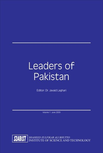 Leaders of Pakistan - SZABIST