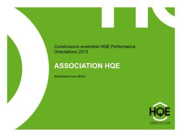Perspectives 2013 (PDF - 428 ko) - Association HQE