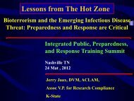 Lessons from The Hot Zone - The 2012 Integrated Medical, Public ...