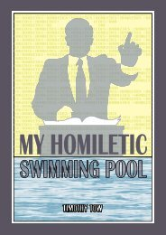 My Homiletic Swimming Pool, Timothy Tow - Online Christian Library