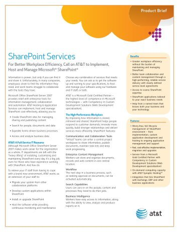 Managed Microsoft Sharepoint - AT&T