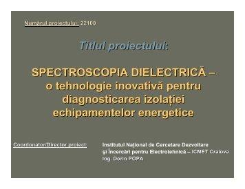 SPECTROSCOPIA DIELECTRICA-o tehnologie inovativa pentru