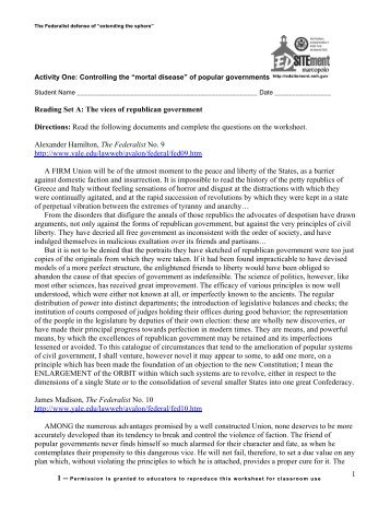 Worksheet for Activity 1 - EDSITEment