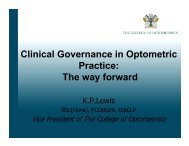 Clinical Governance in Optometric Practice: The way forward