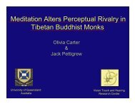 Meditation Alters Perceptual Rivalry in Tibetan Buddhist Monks